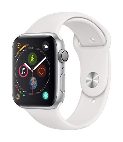 Apple Watch Series 4(GPSモデル)- 44mmシルバーアルミニウムケースとホワイトスポーツバンド