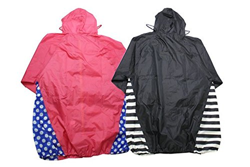 Kids Foret (キッズフォーレ) 袋付き配色ゆったりレインコート(大人用) B81848
