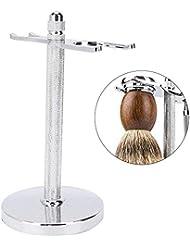 手動剃毛ホルダーブラシホルダー亜鉛合金双頭ブラシホルダー取り外し可能なクリーニング製品