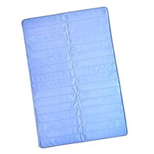 タンスのゲン 塩で冷やす 瞬間冷却 ひんやりマット 敷きパッド シングル 90×140cm 完全防水 エコ仕様 ブルー 19000003 00