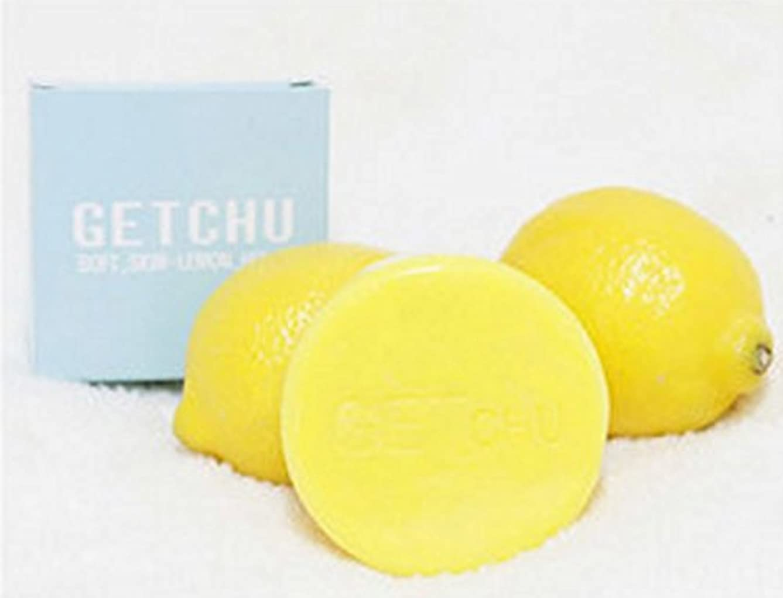 決めます体系的にタイトル[ソフト スキン ] ゲット ズ- (Get Chu) レモンソープ 石鹼 , 美白 泡洗顔料, ユギノン レモンの成分 ホワイトニング効果/ バブル網 贈呈 [海外直送品]