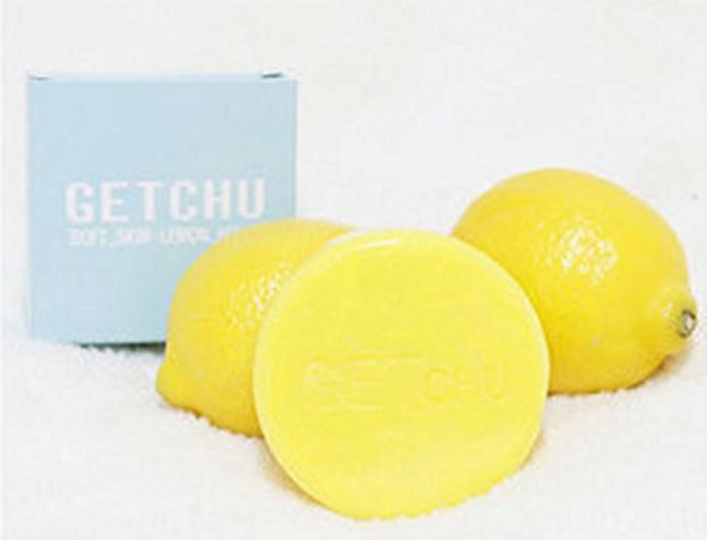 ミニ体細胞お勧め[ソフト スキン ] ゲット ズ- (Get Chu) レモンソープ 石鹼 , 美白 泡洗顔料, ユギノン レモンの成分 ホワイトニング効果/ バブル網 贈呈 [海外直送品]
