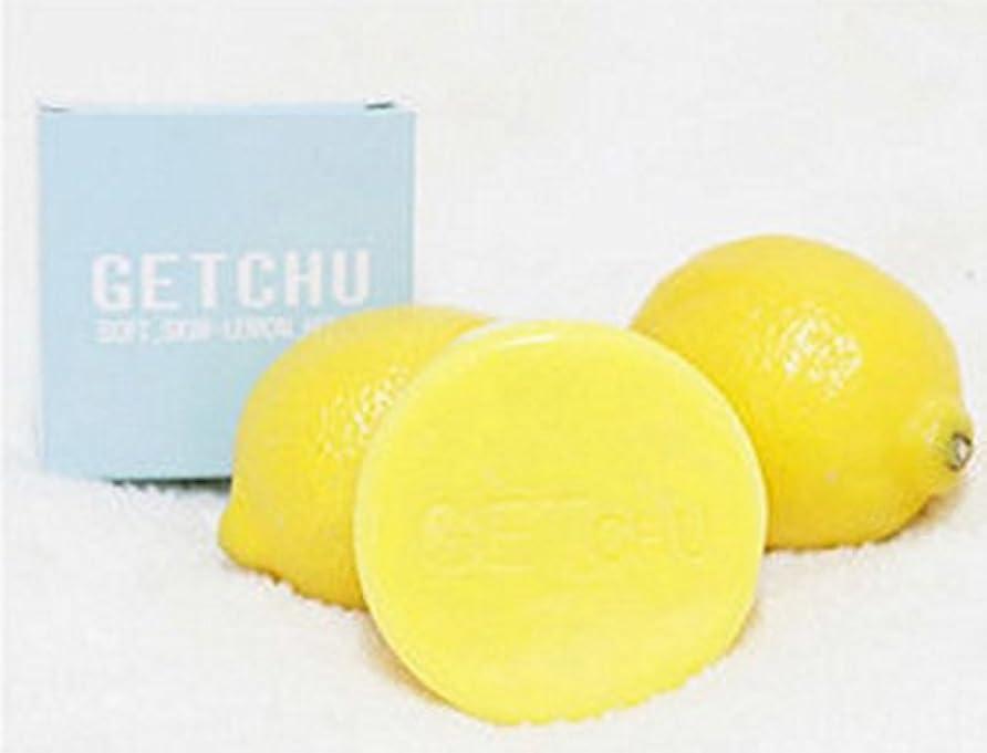 慎重塩辛い肥料[ソフト スキン ] ゲット ズ- (Get Chu) レモンソープ 石鹼 , 美白 泡洗顔料, ユギノン レモンの成分 ホワイトニング効果/ バブル網 贈呈 [海外直送品]