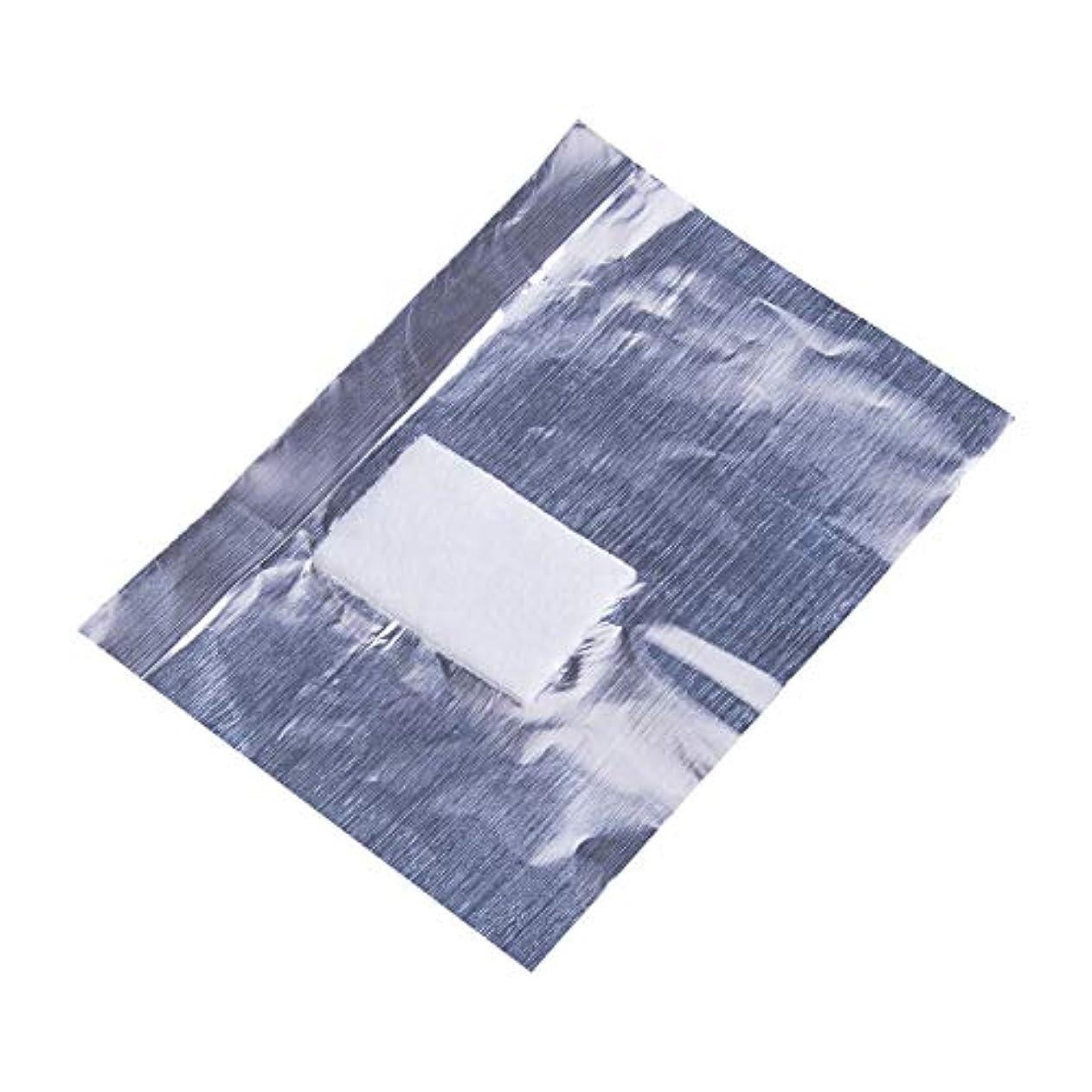 優遇長くする滅びるジェルネイルオフ 使い捨て コットン付きアルミホイル ジェルネイルリムーバー アクリルUVジェル マニキュア用品 ネイル用品 (50pcs)