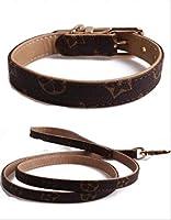 ペット古代の犬の首輪シンプルな品質の犬の首輪ネックレスXLフラワーカラーリーシュ