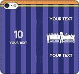 iPhone/Xperia/Galaxy/他機種選択可:部活/好きな番号/文字をカスタム/サッカー手帳ケース(デザイン3:JP_03) 14 全機種対応用【Mサイズ】