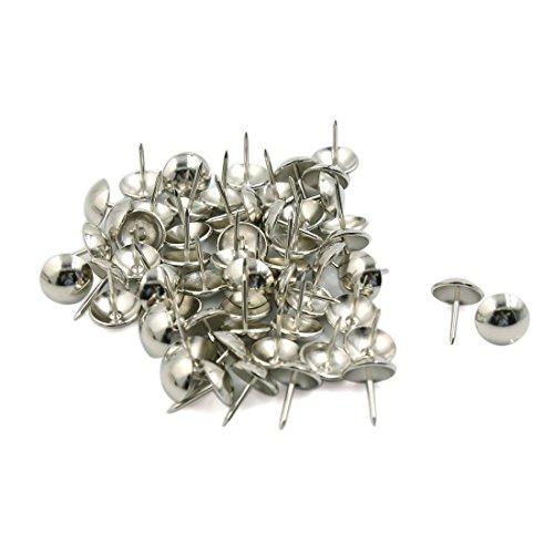 [해외]Myoffice 압정 압정 압정 철제 원형 톱 실버 톤 보드 50 개들이/Myoffice Pictorial tack push pin Iron top round top tone board 50 pieces