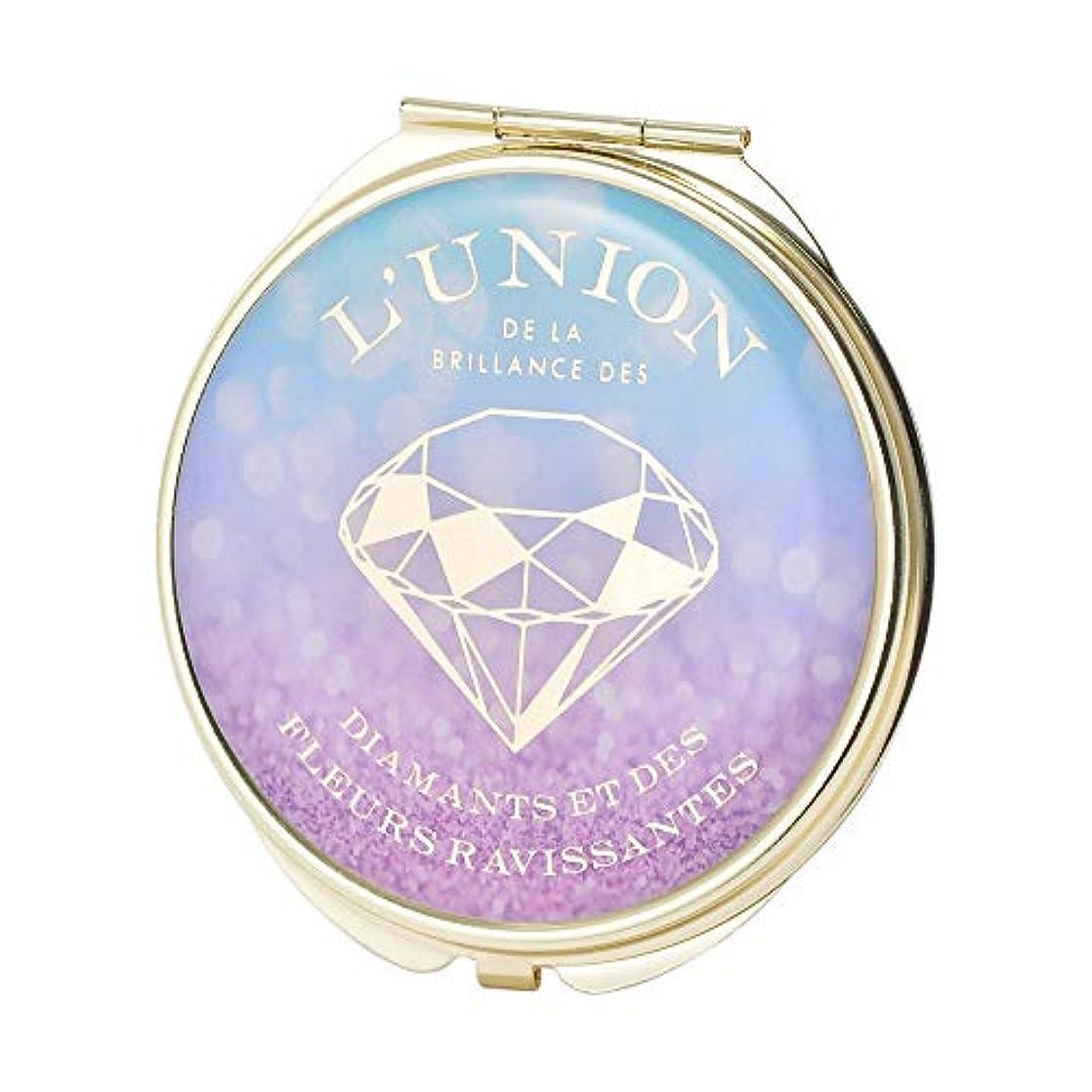 製造業店主予測子マークス コンパクト ミラー ラメダイヤ ブルーパープル Brilliant ブリリアント ZRINF-MR04-BLPL