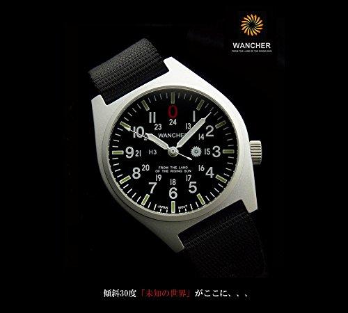 (ワンチャー) WANCHER グルカ Gurkha 腕時計 日本製クォーツ 30度の文字盤 1年保証
