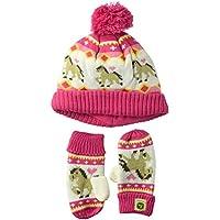 John Deere Girls Winter Cap Cold Weather Hat Toddler Pink