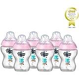 TOMMEE TIPPEE 260Ml Pink Feeding Bottles (6-Pack), Pink