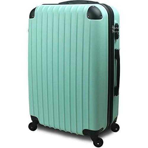 【SUCCESS サクセス】 スーツケース 超軽量 3サイズ( 大型 Lサイズ / 中型 Mサイズ / 小型 Sサイズ ) キャリーバッグ TSA搭載 FS2000 ファスナー (小型 Sサイズ 1~3泊用, グリーン)