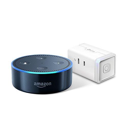 Amazon Echo Dot、ブラック + TP-Link WiFi スマートプラグ 直差しコンセント 音声コントロール