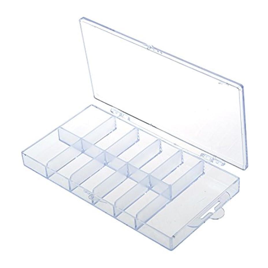 科学者化合物累積Vaorwne 2pcsネイルアート100枚ヒントコンパートメントのボックス、ケース