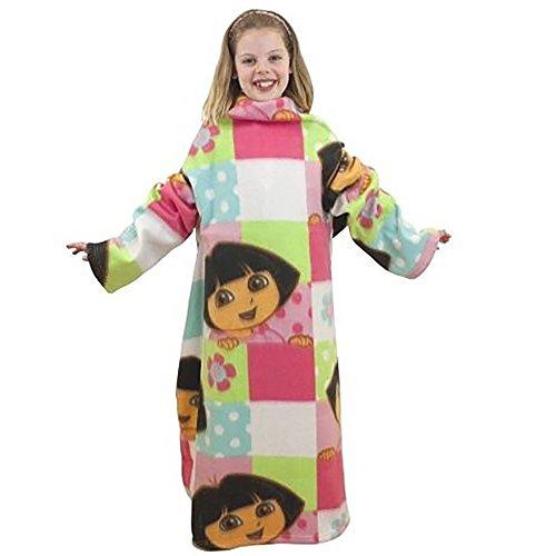 キッズ子供用 ドーラといっしょに大冒険 袖付きあったか着る毛...