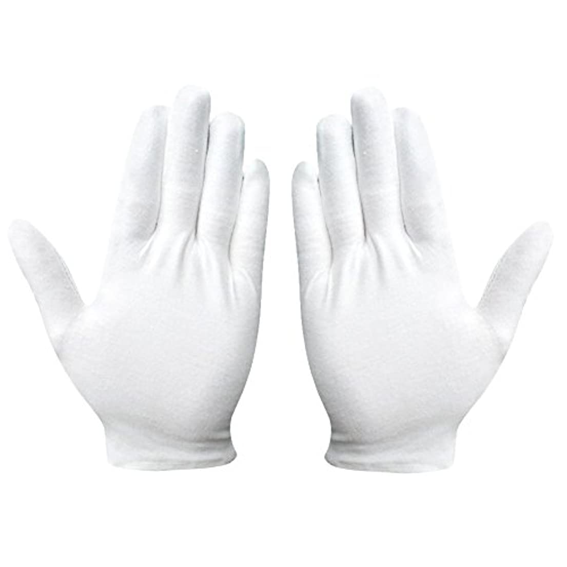 抹消蚊兵隊綿手袋 純綿 コットン手袋 白手袋 薄手 通気性 手荒れ予防 【湿疹用 乾燥肌用 保湿用 礼装用】12双組