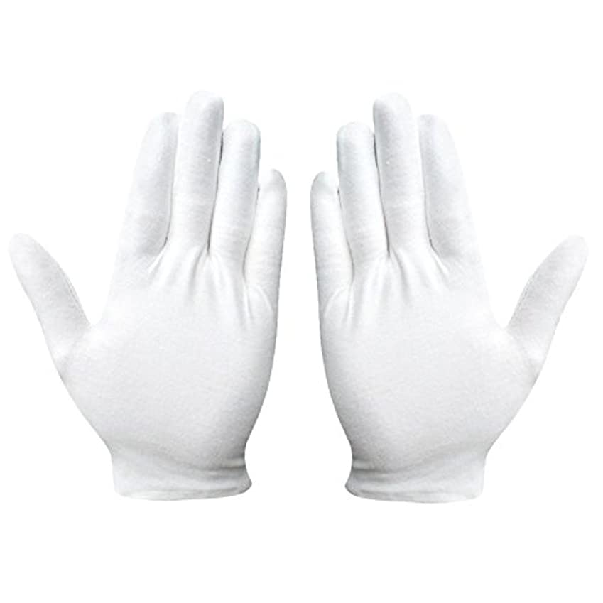 ヒール神社ドル綿手袋 純綿 コットン手袋 白手袋 薄手 通気性 手荒れ予防 【湿疹用 乾燥肌用 保湿用 礼装用】12双組