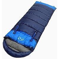 パラディニア(Paladineer)丸洗いOK 寝袋 封筒型 シュラフ 防撥水 軽量 登山 キャンプ用 耐寒 防災 冬用 コンパクト 連結可能 収納袋付き
