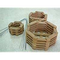 チークバスケット 8角形 3個セット