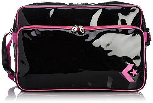 [コンバース] ショルダーバッグ エナメルショルダー Lサイズ C863052 BKPI ブラック×ピンク