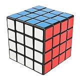 FAVNIC スピードキューブ4x4x4 競技用【6面完成攻略書付き】立体パズル ポップ防止 スタンド付き!滑り止め (4x4)