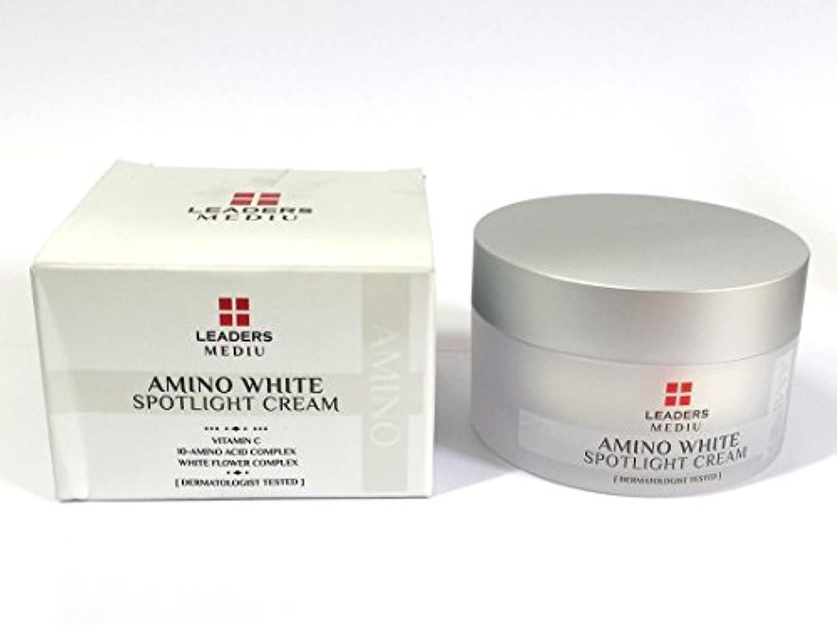 ブロック怒ってドループ[Leaders] アミノホワイトスポットライト50ml / Amino White Spotlight Cream 50ml / ホワイトニング、アンチリンクル、モイスチャライジング / Whitening, Anti-Wrinkle...
