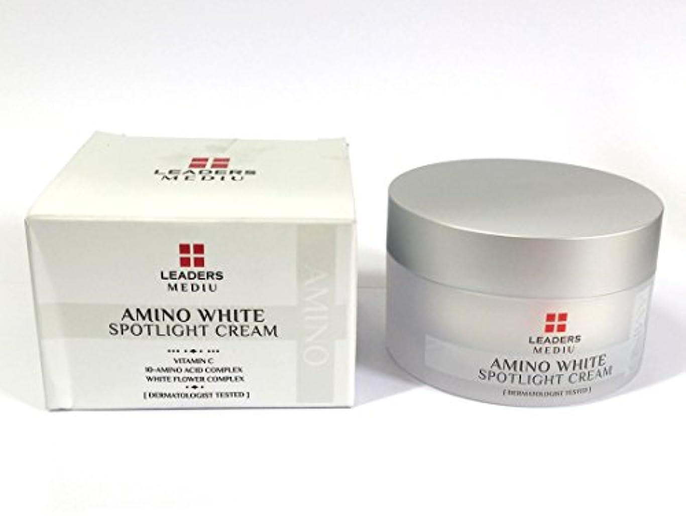ポーンドット歩き回る[Leaders] アミノホワイトスポットライト50ml / Amino White Spotlight Cream 50ml / ホワイトニング、アンチリンクル、モイスチャライジング / Whitening, Anti-Wrinkle...