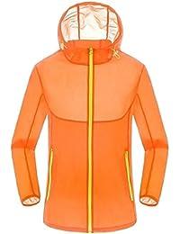 Keaac 男性の超薄型軽量の抗紫外線太陽保護を通すジャケット
