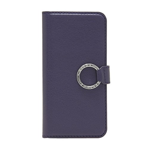 [CASEBANK] リング付き 手帳 ケース iPhone6/6s 4.7インチ 落下防止 実用新案取得済 スマホ カバー (パープル) RING-01-Purple
