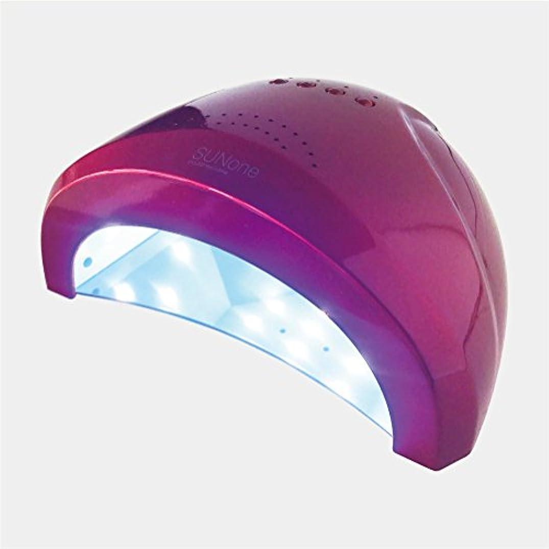 バット驚ガソリンジェルネイル?クラフトレジン 48w UV/LEDライト 2in1 人感センサー付き ネイルドライヤー UV/LED兼用ライト 【保証付き】 カラー:レッド