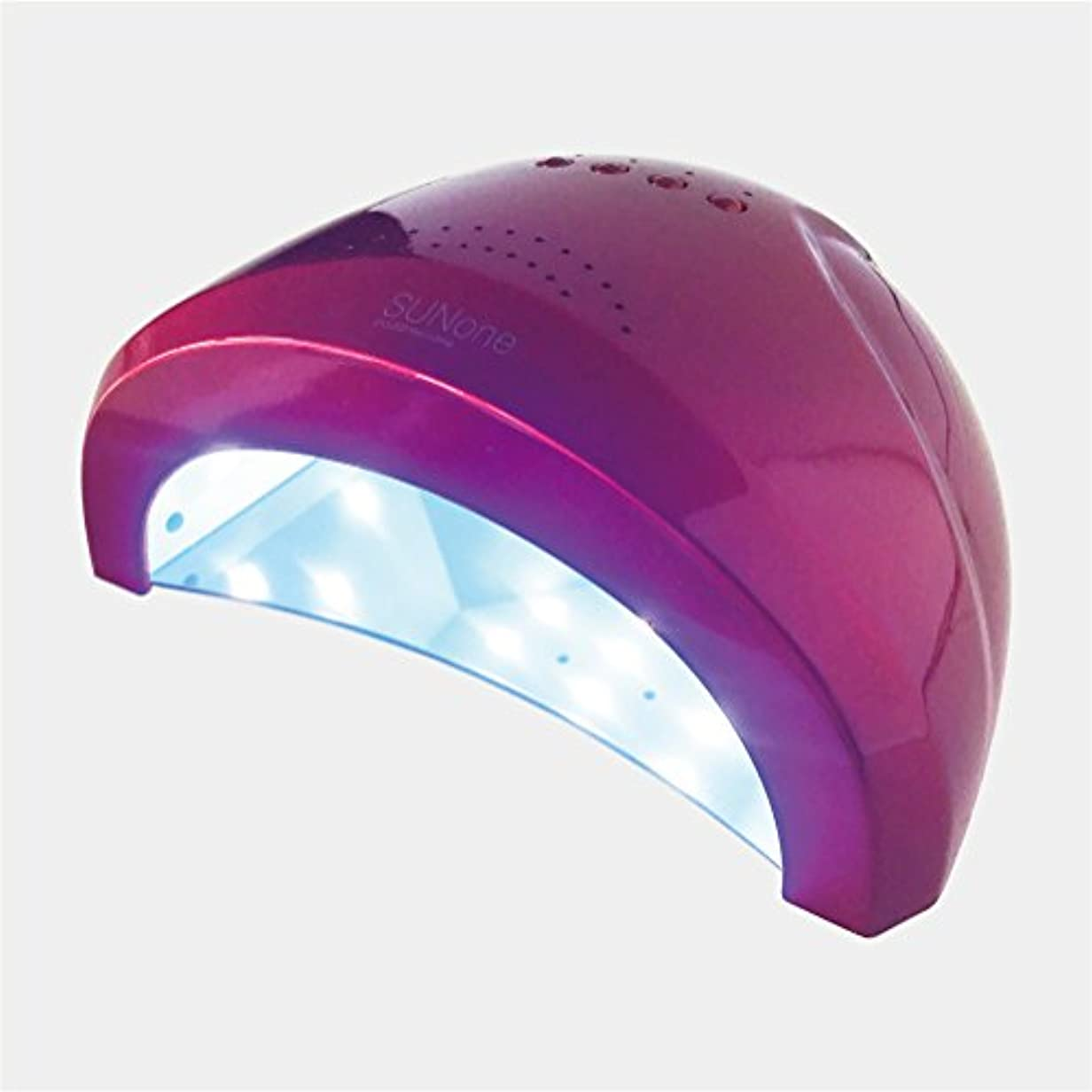 マージ繕うルネッサンスジェルネイル?クラフトレジン 48w UV/LEDライト 2in1 人感センサー付き ネイルドライヤー UV/LED兼用ライト 【保証付き】 カラー:レッド