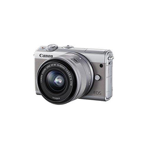 Canon ミラーレス一眼カメラ EOS M100 EF-M15-45 IS STM レンズキット(グレー) EOSM100GY1545ISSTMLK