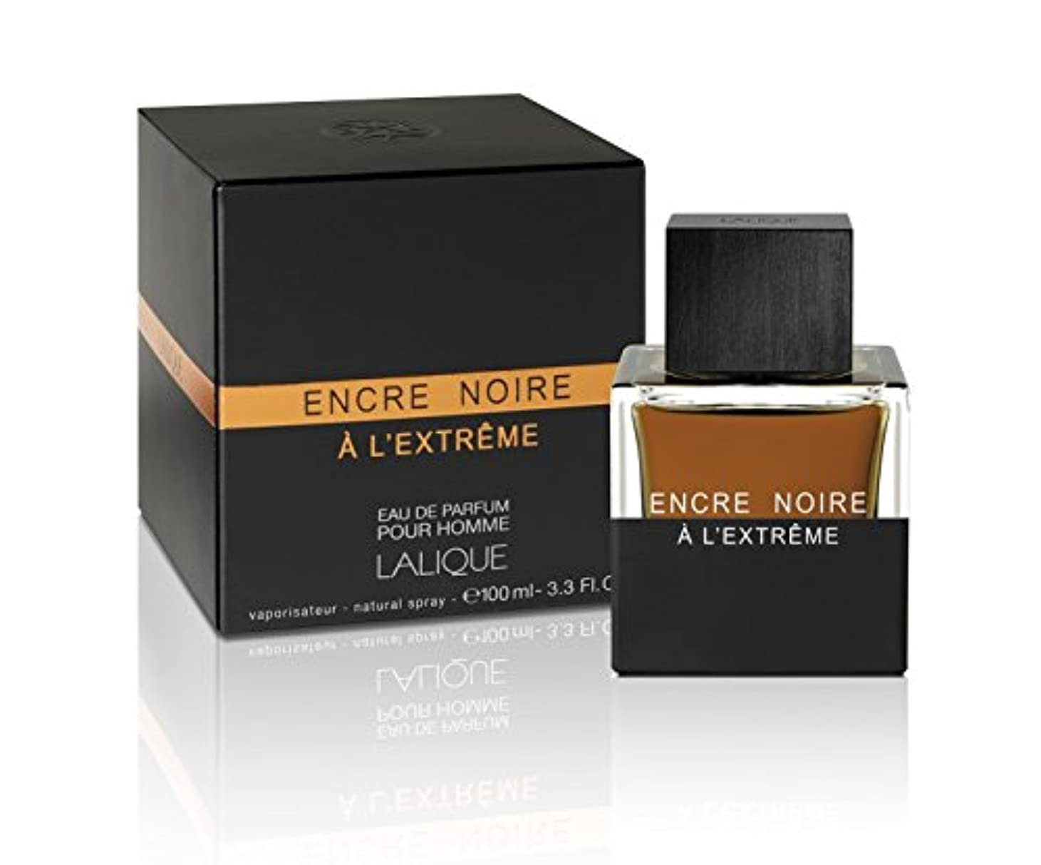 シソーラス古風な中止しますLalique Encre Noire A L'Extreme 100ml/3.3oz Eau De Parfum Perfume Spray for Men