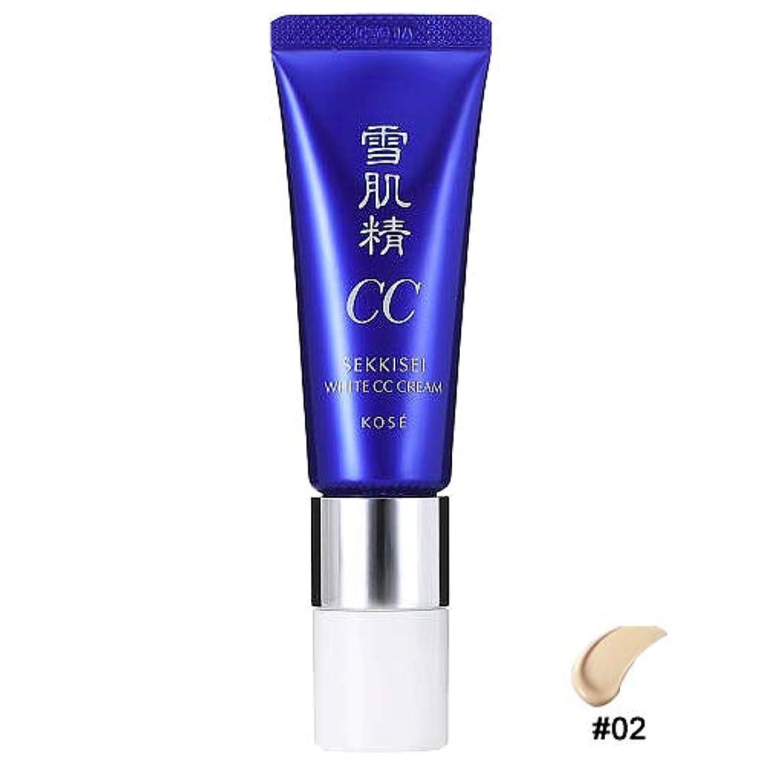 フォアマン独立した練るコーセー 雪肌精 ホワイトCCクリーム 02 普通の明るさの自然な肌色 30g SPF50+/PA++++ [並行輸入品]
