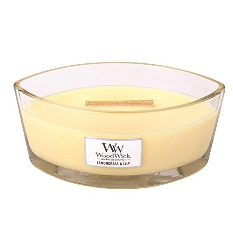 火曜日アレンジ服を着るLEMONGRASS LILY HearthWick Flame Large Scented Candle by WoodWick by WoodWick