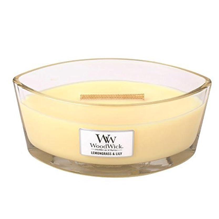 からに変化する健全ガムLEMONGRASS LILY HearthWick Flame Large Scented Candle by WoodWick by WoodWick