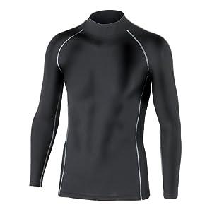 おたふく手袋 ボディータフネス 保温 コンプレッション パワーストレッチ 長袖 ハイネックシャツ JW-170 (ブラック/ホワイト/迷彩) S~3L