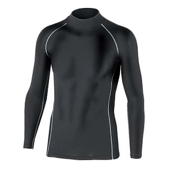 おたふく手袋 ボディータフネス 保温 コンプレッション パワーストレッチ 長袖 ハイネックシャツ JW-170 ブラック 3L