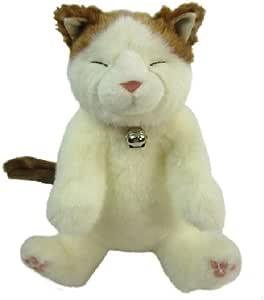 かご猫 シロ ぬいぐるみ 座高33cm