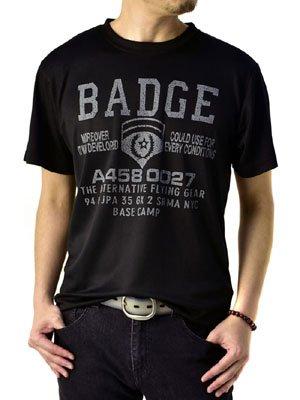 (フラグオンクルー) FLAG ON CREW 吸汗速乾 Tシャツ メンズ アメカジ ミリタリー 半袖 / D1J / 3L B柄ブラック