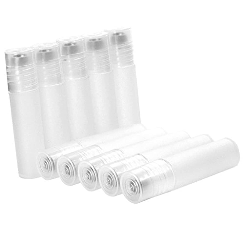 パトワ予約シャットFenteer 10本セット 空ボトル 香水 クリーム 液体 リフィルボトル 詰め替え 5ml ミニサイズ
