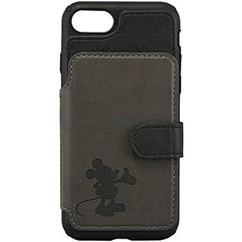 グルマンディーズ ディズニーキャラクター/iPhone8/7(4.7インチ)対応カードフラップケース ミッキーマウス dn-604a