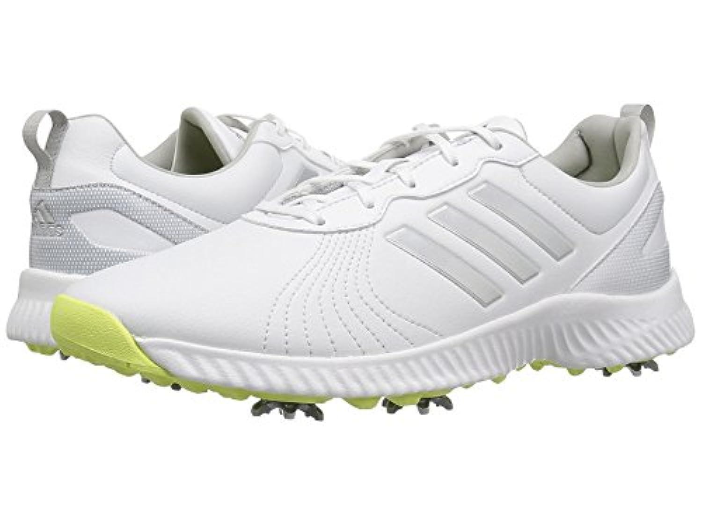 (アディダス) adidas レディースゴルフシューズ?靴 Response Bounce Footwear White/Silver Metallic/Semi Frozen Yellow 6.5 (23.5cm) M
