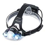CONPEST LED ヘッドライト ヘッドランプ 登山 明るさ8000ルーメン ボディーセンサー&ズーム機能 高輝度 4点灯モード USB充電式 IPX6防水レベル 18650リチウム電池付き