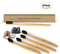 Isabella's Clearly 竹の歯ブラシ、優しく柔らかな木炭注入されたナイロン製のBPAフリーの毛、天然有機材料 4