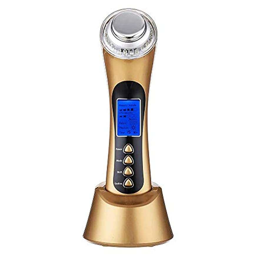 間違っているリンク元気な5つ1つの超音波光線療法のイオン装置LEDライト3Mhz改装を白くする皮の引き締め機械