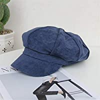 HENGTONGTONGXUN New Korean Autumn and Winter Hat Female British Retro Wild Solid Color Suede Beret Cap Child Simple and Practical Product (Color : Blue, Size : Adjustable)