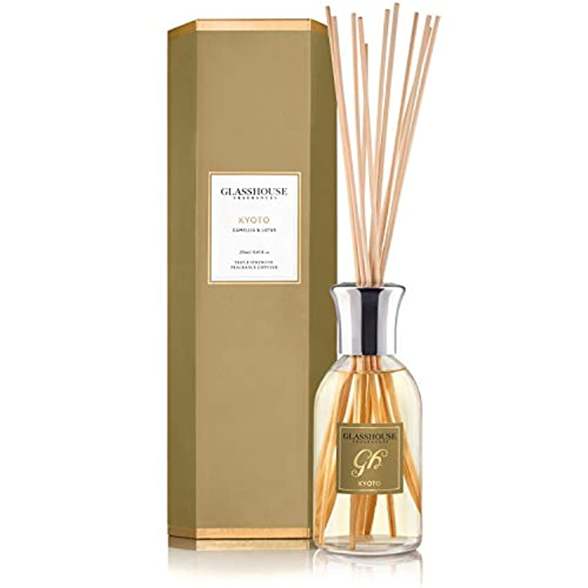 平手打ち憤る空虚グラスハウス Triple Strength Fragrance Diffuser - Kyoto (Camellia & Lotus) 250ml/8.45oz並行輸入品