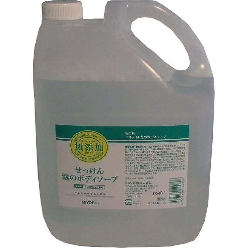 受動的利用可能熱心な合成界面活性剤はもちろん、香料、防腐剤、着色料などは一切加えていません!無添加せっけん 業務用 泡のボディソープ 詰替用 5L【4個セット】