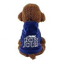 XYACM 犬服フード付きTシャツペット服ベルベット生地暖かく快適な春と秋 (色 : 3, サイズ : S)
